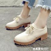 2019春夏季新款學生韓版百搭英倫風軟妹女鞋原宿風小皮鞋女 米希美衣