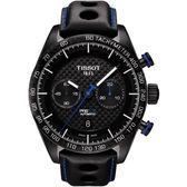 TISSOT 天梭 PRS516 系列計時機械手錶-黑/45mm T1004273620100