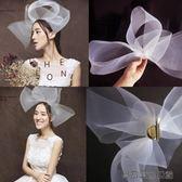 夸張頭紗結婚頭飾舞臺白色婚紗配飾易樂購 館