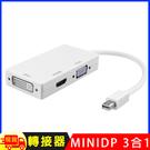 多功能mini DP轉HDMI /DVI /VGA 3合1轉換器(1080P版)