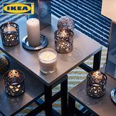 宜家IKEA西恩利香味燭和玻璃杯天然植物精油香薰燭臺無煙蠟燭杯蠟