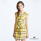 Peplum(花瓣腰)格紋洋裝 Scot...