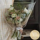 20張 情人節520玻璃紙鮮花包裝紙透明防水包花紙玫瑰表白花束花藝材料【白嶼家居】