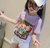 黑五好物節 童裝女童短袖t恤夏裝2018新款韓版兒童中大童夏季白色打底衫上衣 小巨蛋之家