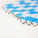 紙吸管24入-寶貝藍...