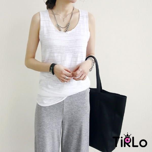 背心-Tirlo-正韓製冰絲竹節棉長版捲邊背心-12色