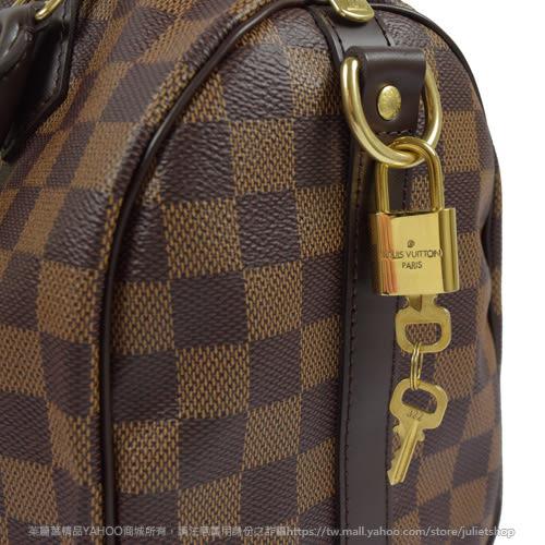 Louis Vuitton LV N41368 N41181 Speedy 25 棋盤格紋附背帶手提包(附銷組) 全新 現貨【茱麗葉精品】