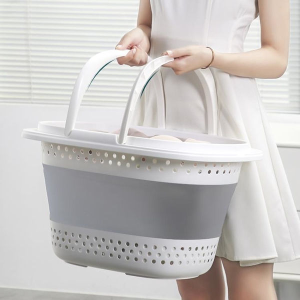 可摺疊臟衣籃洗衣簍放衣物神器臟衣服收納筐家用裝衣婁桶籃子簍子 ATF 滿天星
