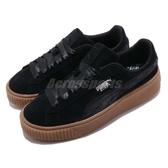 Puma 休閒鞋 Platform Galaxy Wns 黑 咖啡 麂皮鞋面 厚底 女鞋【ACS】 36917203