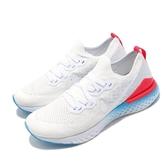 Nike 慢跑鞋 Epic React Flyknit 2 白 藍 男鞋 運動鞋 【ACS】 CJ7794-146