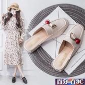 穆勒鞋 港風ins涼拖鞋女外穿女鞋春夏季2020新款時尚百搭水鉆粗跟半拖鞋 百分百
