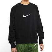 Nike NSW Swoosh Crew 男 黑 大學T 長袖上衣 DA0087-010
