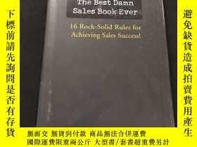 二手書博民逛書店英文原版罕見THE BEST DAMN SALES BOOK E