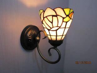 設計師美術精品館壁燈促銷價蒂凡尼玻璃燈飾 田園粉紅溫馨玫瑰燈具 臥室 床頭 過道