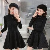 網紅潮人【現貨】新款港味chic時尚暗黑吊帶裙氣質顯瘦兩件套套裝N115A.8632胖胖唯依