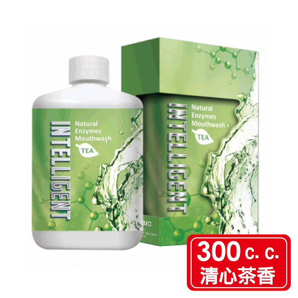 Intelligent 因特力淨 酵素漱口水 300c.c./罐 (清新茶香) 專品藥局【2013836】