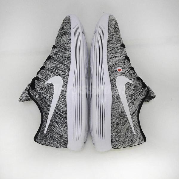 【US7-NG出清】Nike 慢跑鞋 LunarEpic Low Flyknit 左鞋面泛黃 黑 白 雪花 女鞋 運動鞋【ACS】
