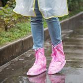 雨天防雨鞋套女加厚耐磨底防滑戶外徒步成人防水透明學生雨靴套鞋