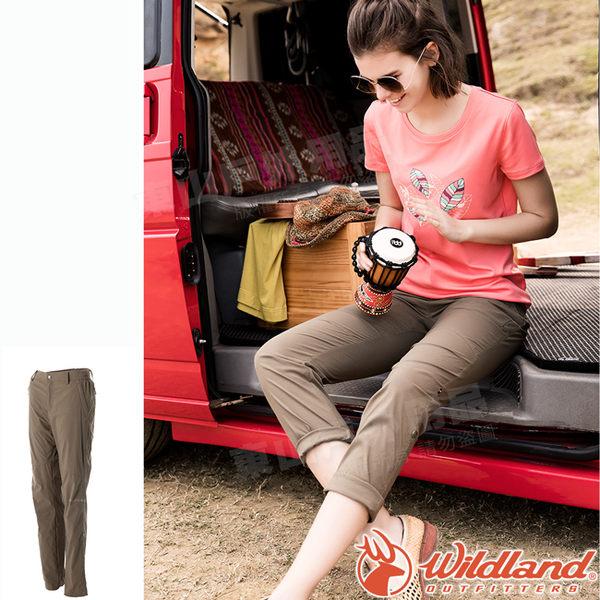 Wildland 荒野 0A51305-62黃卡其 女 Supplexd可調節長褲 彈性延展/輕薄透氣/吸濕快乾/休閒褲