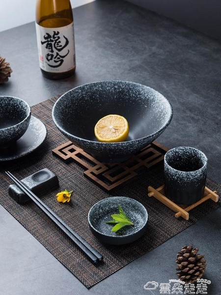 餐具餐具一人食家用日式陶瓷碗筷盤子創意復古碟子吃飯碗盤子碗碟套裝 雲朵