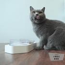 狗貓碗斜口飲水碗貓食盆寵物碗【小檸檬3C】