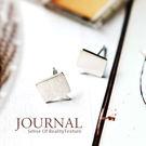 925純銀 對話框設計款 針式耳環_質物...
