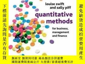 二手書博民逛書店Quantitative罕見Methods For Business, Management And Financ