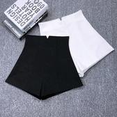 西裝短褲黑色西裝短褲女士春夏2020新款高腰韓版彈力a字百搭休閒闊腿褲子 JUST M