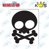 【浮雕貼紙】可愛骷髏 # 壁貼 防水貼紙 汽機車貼紙 3.4cm x 4.5cm