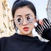 2018新款太陽鏡女潮度假偏光正韓復古墨鏡圓臉網紅有度數眼鏡三角衣櫥