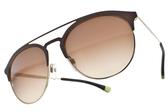 EMPORIO ARMANI 太陽眼鏡 EA2052 318213 ( 棕金-漸層棕鏡片) 質感紳士飛官款 # 金橘眼鏡