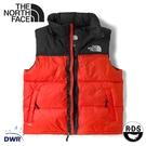 【The North Face 男 ICON 700FP 防潑水鵝絨保暖背心(美版)《橘/黑》】3JQQ/保暖休閒背心