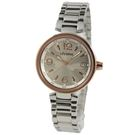 【萬年鐘錶】 LICORNE 繽紛多彩櫻花圖案錶面  玫瑰金x銀 LI030LTWA-R