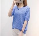 中大尺碼針織上衣短袖上衣T恤寬鬆彈性XL-4XL韓版R26.20211號公館