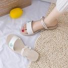 小雛菊拖鞋女2020夏季新款仙女風ins潮平底沙灘鞋百搭兩穿涼鞋女