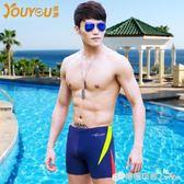 新款男士泳褲平角 溫泉大尺碼專業游泳褲潮時尚泳衣男游泳裝備  檸檬衣捨
