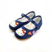 HELLO KITTY  牛仔花朵小磨菇 公主娃娃鞋《7+1童鞋》C682 藍色