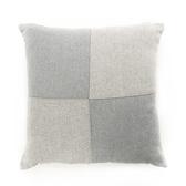 拼接亞麻抱枕 45X45cm 灰色款