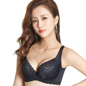 思薇爾-挺享塑系列E-G罩蕾絲包覆背心型塑身內衣(黑色)