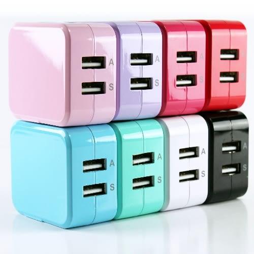 方塊造型 USB充電器 5V/2.1A -台灣安規認證