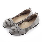 G.Ms. MIT系列-流蘇鉚釘牛皮娃娃鞋-灰色