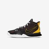 Nike Kyrie 7 (gs) [CT4080-001] 大童鞋 籃球鞋 運動 靈活 包覆 舒適 貼合 避震 黑 黃