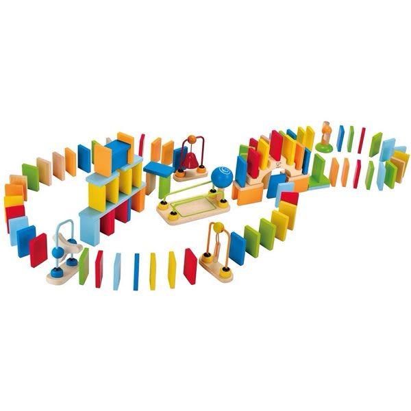 【免運費】《德國HAPE愛傑卡》 動力骨牌積木 ╭★ JOYBUS玩具百貨