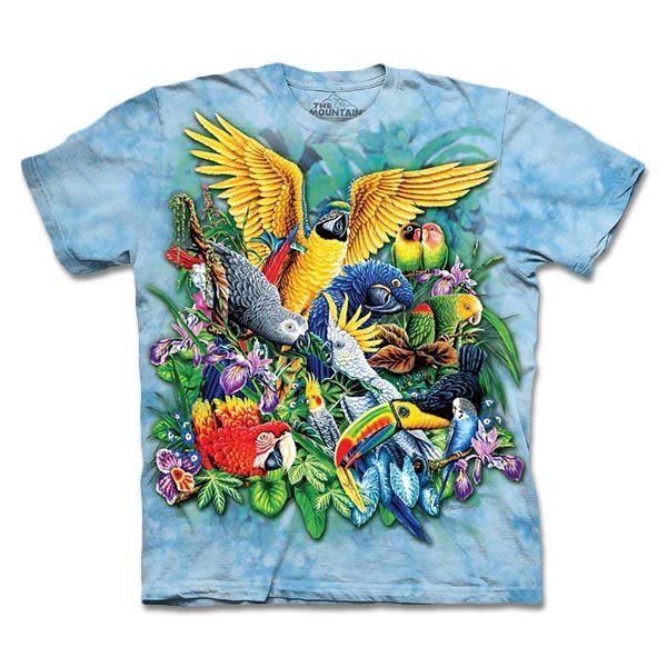 【摩達客】 (預購) 美國進口【The Mountain】自然純棉系列 熱帶鳥群 T恤(10413045132a)