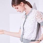 MOMA 蕾絲短袖針織外套