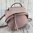 BRAND楓月 TOD S 粉色 WAVE 皮革 皮質 牛皮 造型 豆豆裝飾 後背包 書包 隨身小包