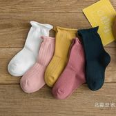 兒童襪子女童棉襪 小孩堆堆襪 松口寶寶中長筒襪 1-3-5-7-8歲襪子