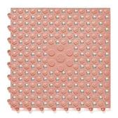 無毒橡膠北歐拼接地墊 4入 粉色 單片30cm