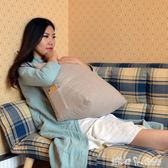 日式可拆洗亞麻三角靠墊床頭飄窗榻榻米靠枕辦公室座椅護腰頸抱枕 YXS 「潔思米」