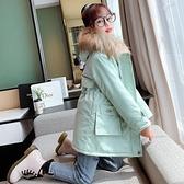 韓版外套中大童上衣 棉服加絨兒童夾克外套 連帽潮流女孩洋氣棉衣女童外套 羽絨外套秋冬棉襖